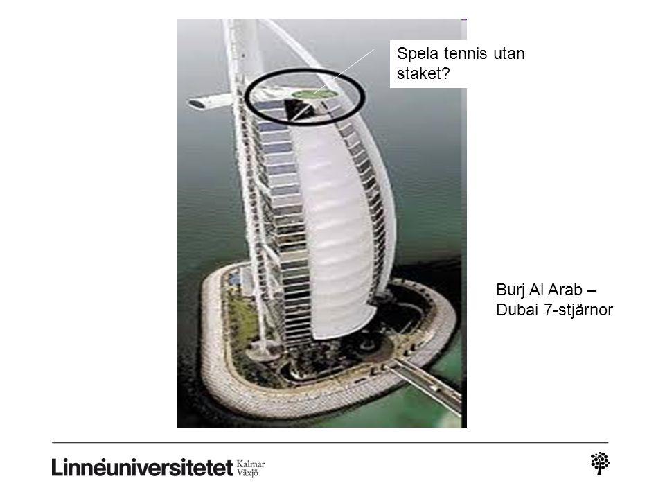 Spela tennis utan staket? Burj Al Arab – Dubai 7-stjärnor