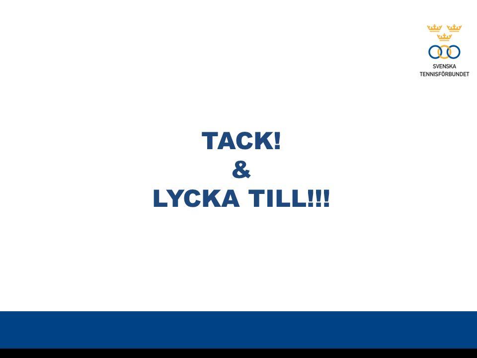 TACK! & LYCKA TILL!!!