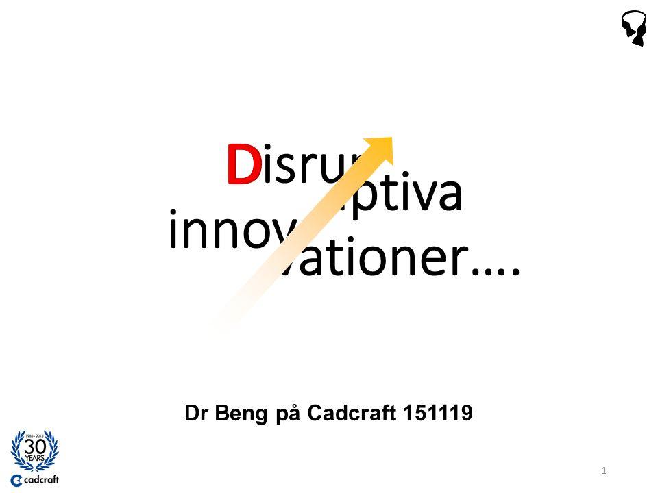 Kärnområdes innovation Näraliggande innovation Omdanande innovation Det är här som disruptioner uppstår.