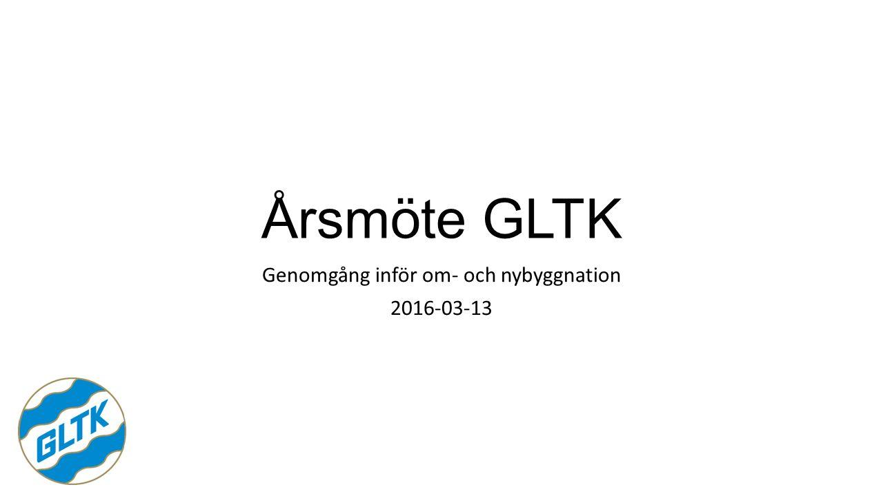 Årsmöte GLTK Genomgång inför om- och nybyggnation 2016-03-13