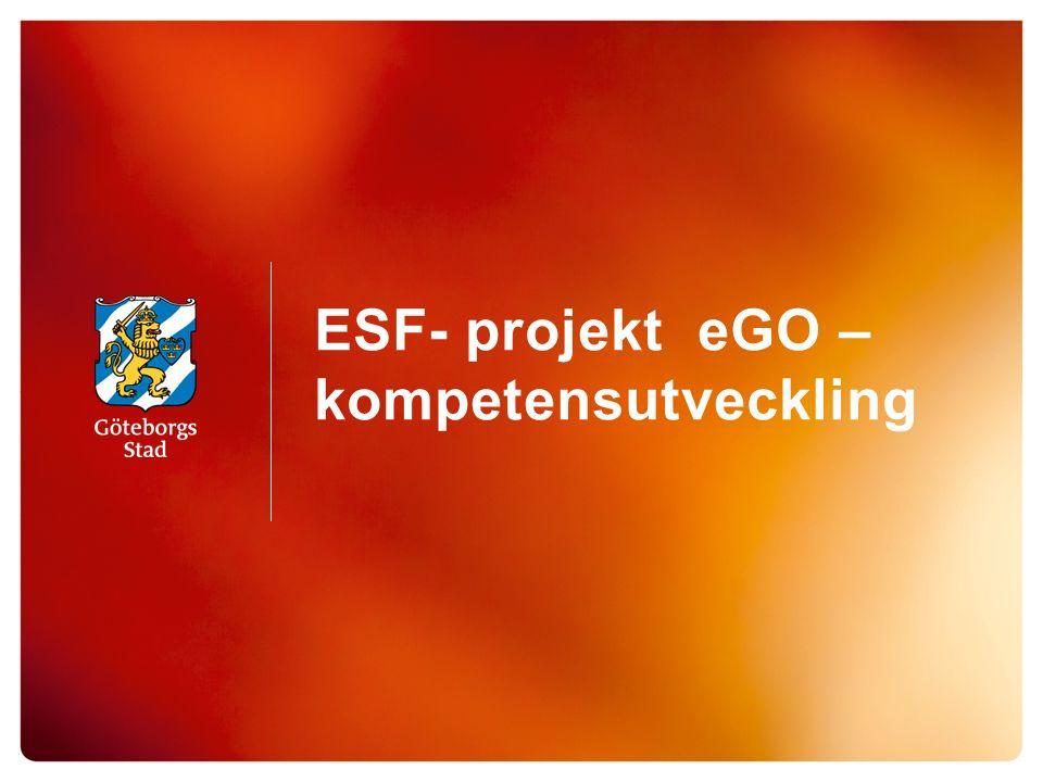 ESF- projekt eGO – kompetensutveckling