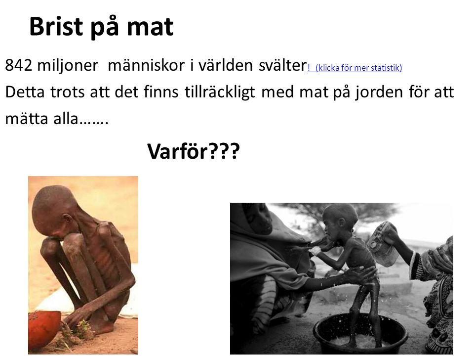 Ekonomiska bromsklossar Råvaruhandel Fattiga länder exporterar oftast ett fåtal råvaror som exempelvis malm.