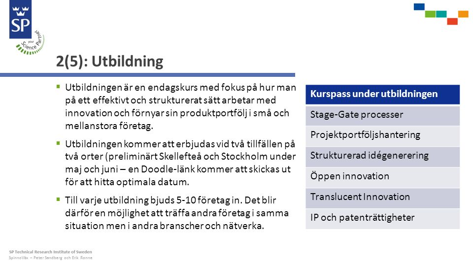 SpinnoVäx – Peter Sandberg och Erik Ronne 3(5): Innovation Spark  Alla har varit med om kreativa workshops med PostIt-lappar, men vad händer sedan.
