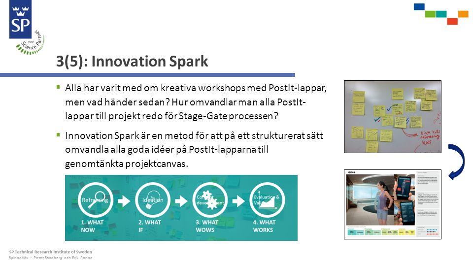 SpinnoVäx – Peter Sandberg och Erik Ronne 4(5): Translucent Innovation ®  Translucent Innovation ® är en plattform för öppen innovation utvecklad av SP.