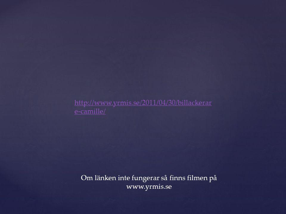 http://www.yrmis.se/2011/04/30/billackerar e-camille/ Om länken inte fungerar så finns filmen på www.yrmis.se