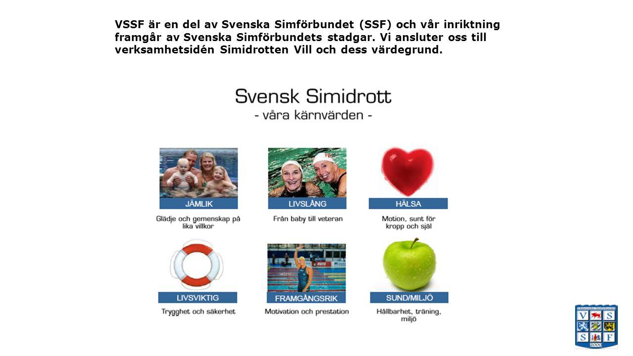 VSSF är en del av Svenska Simförbundet (SSF) och vår inriktning framgår av Svenska Simförbundets stadgar.