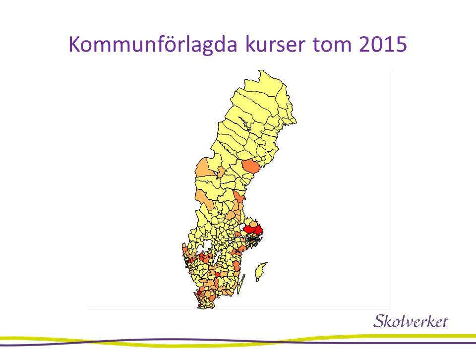 Kommunförlagda kurser tom 2015