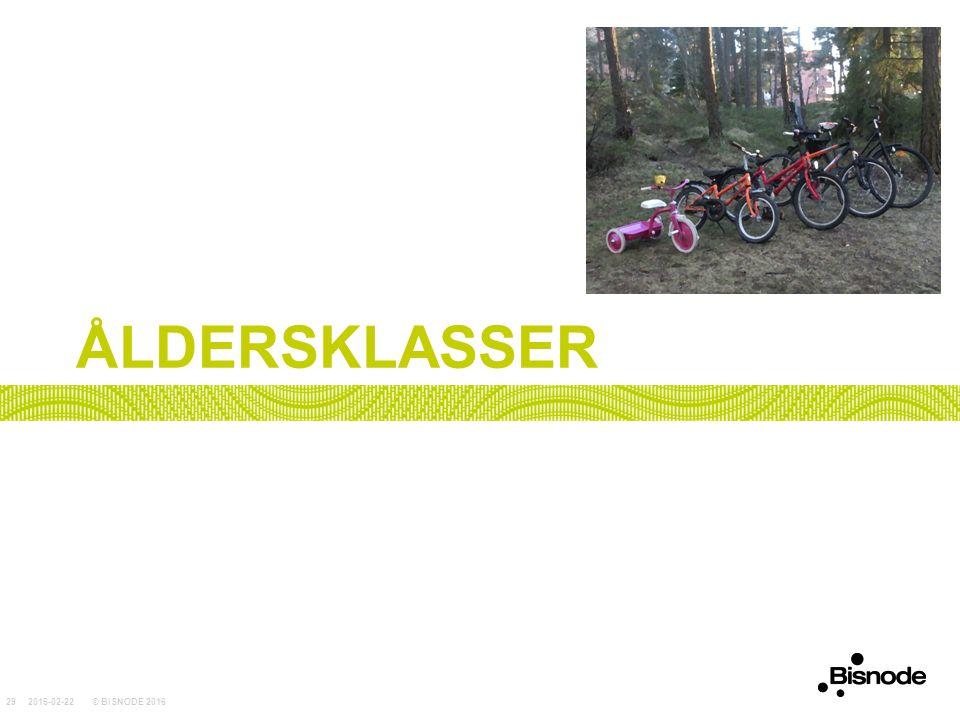 ÅLDERSKLASSER 2016-02-22© BISNODE 201629