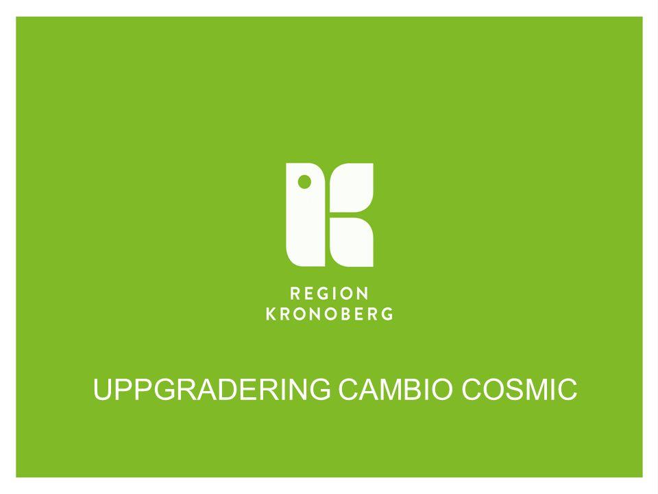 UPPGRADERING CAMBIO COSMIC