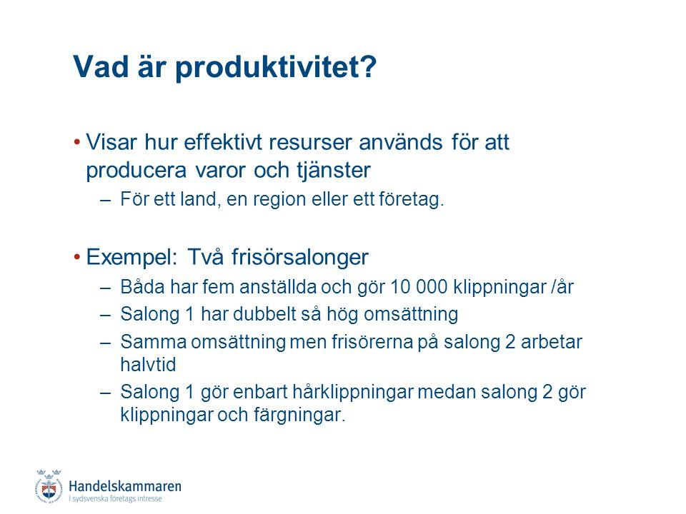Arbetskraft Produktivitet Produktion Hur mäts produktivitet.