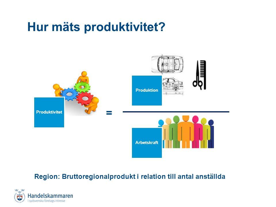 Produktivitetsutvecklingen i Skåne: En paradox?