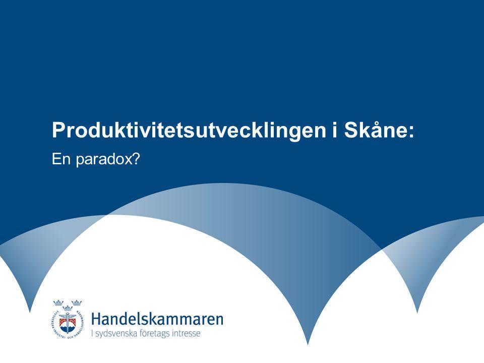 Produktivitetsutvecklingen i Skåne: En paradox