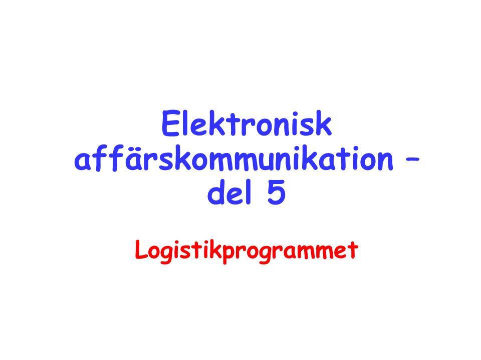 Elektronisk affärskommunikation – del 5 Logistikprogrammet