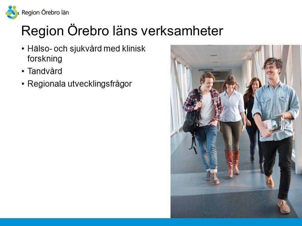 Regional utveckling Uppdraget är att arbeta för hållbar tillväxt och god livskvalitet i hela Örebroregionen.