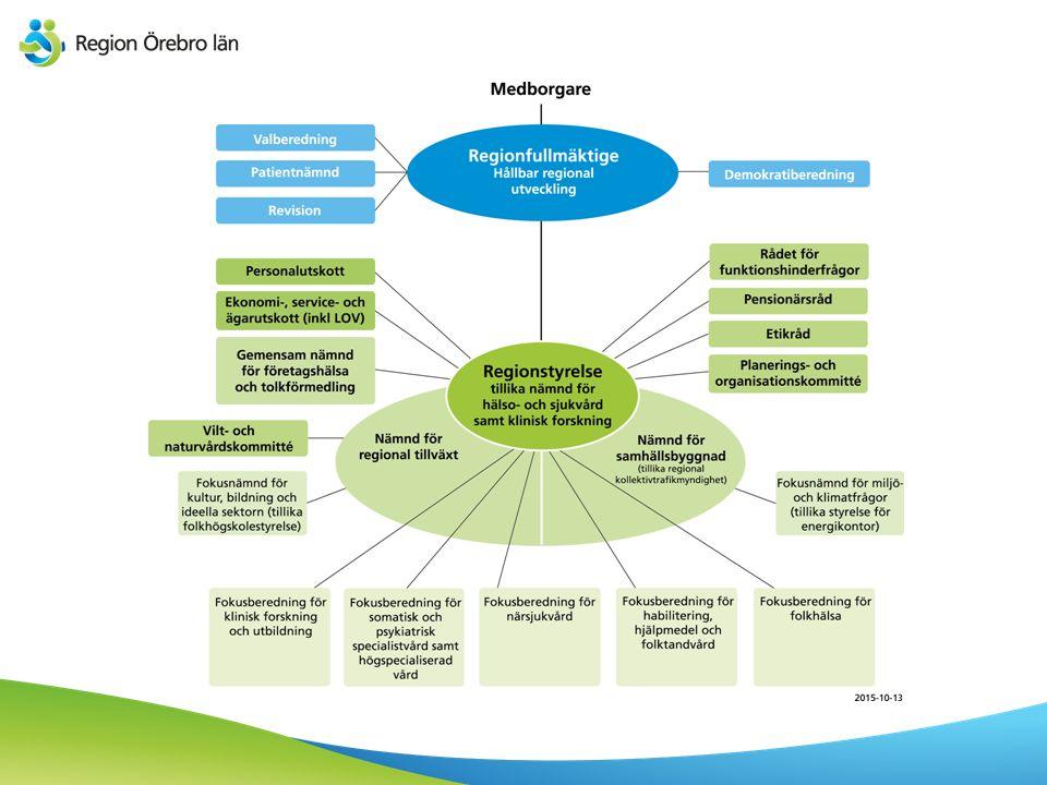 Regionkansli Regiondirektör Planering och administration Ekonomi HR Hållbar utveckling Kommunikation Hälso- och sjukvård – beredning och uppdrag Regiondirektörens stab utgörs av regionkansliet.