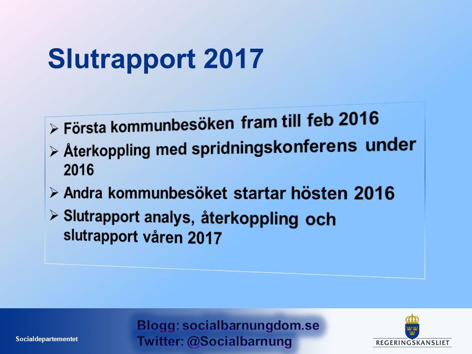 Socialdepartementet Slutrapport 2017