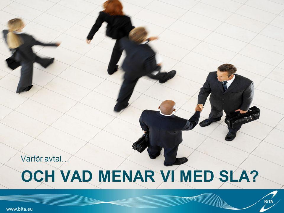 Andra avtalstips… Minska administration genom att hänvisa till beskrivning i exempelvis tjänstekatalog –Slipp uppdatera avtal på grund av förändrad tjänstebeskrivning Tänk på båda parters ansvar i ett avtal –Vad förväntas av kunden.