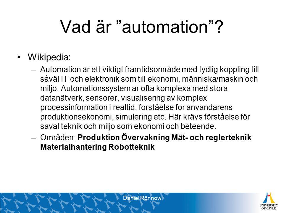 Vad är automation .
