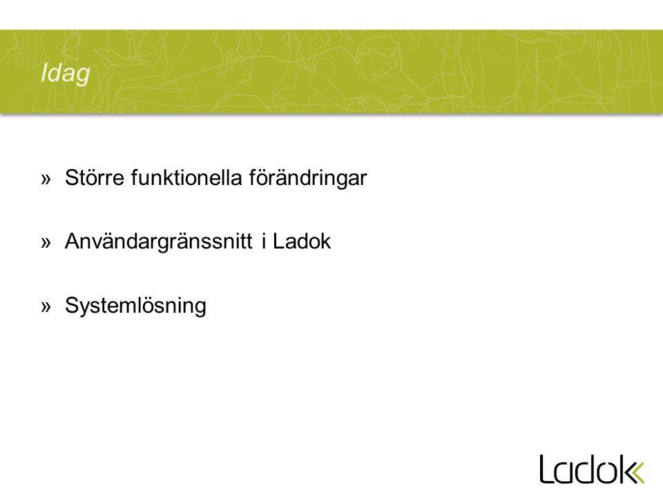 Idag »Större funktionella förändringar »Användargränssnitt i Ladok »Systemlösning