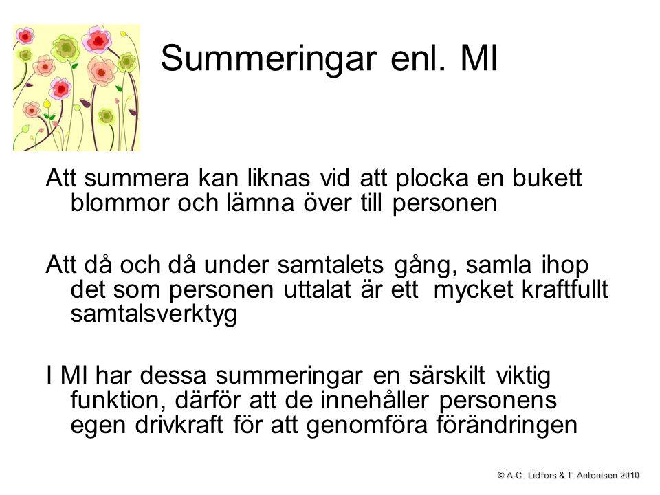 Summeringar enl.
