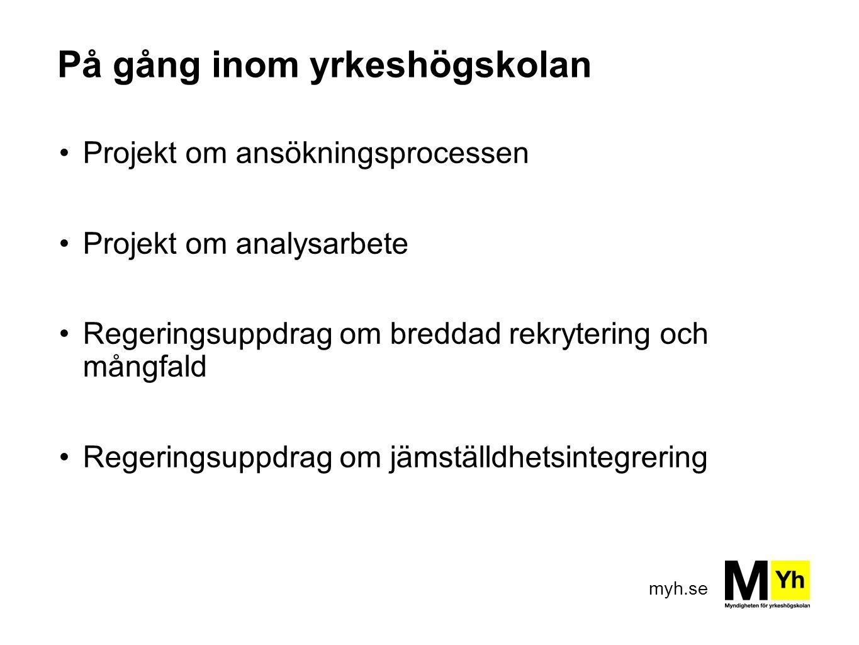 myh.se Regeringens satsning på YH Belopp i miljoner kronor (mnkr)