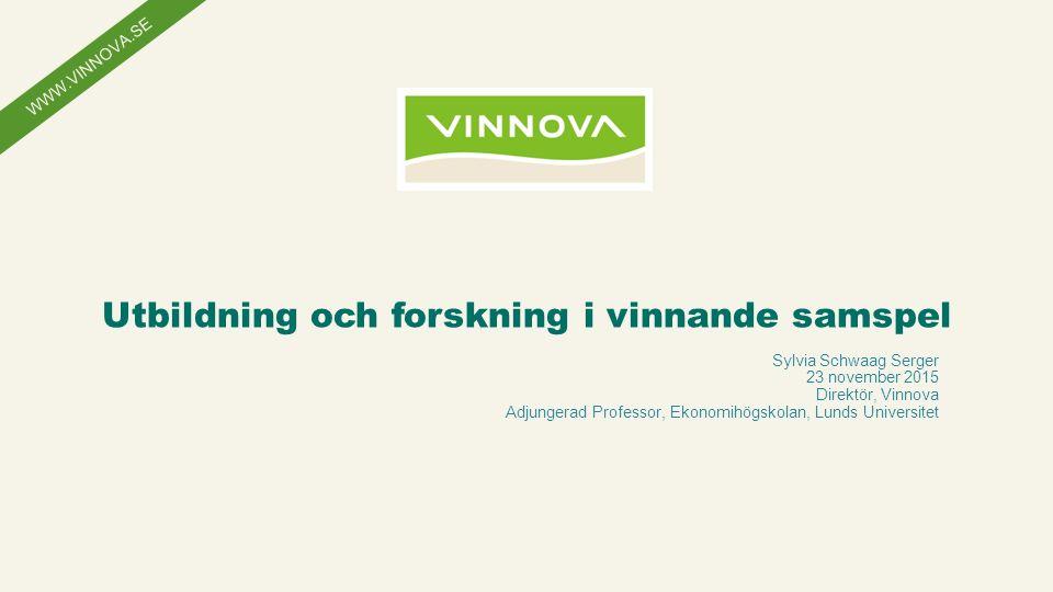 WWW.VINNOVA.SE Anpassa informationen i sidfoten: 1.