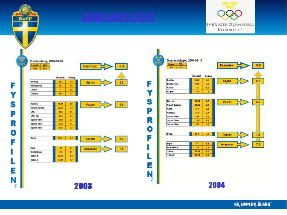 DAMLANDSLAGET 2003 2004