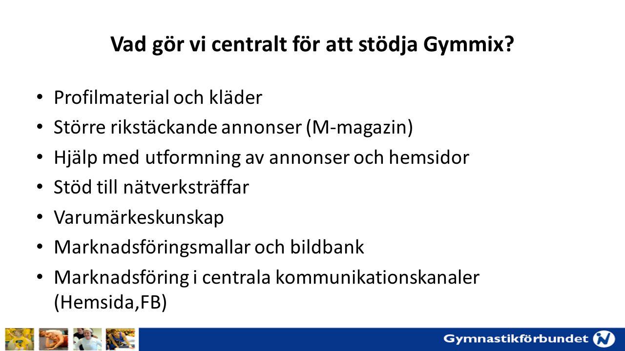 Vad gör vi centralt för att stödja Gymmix.