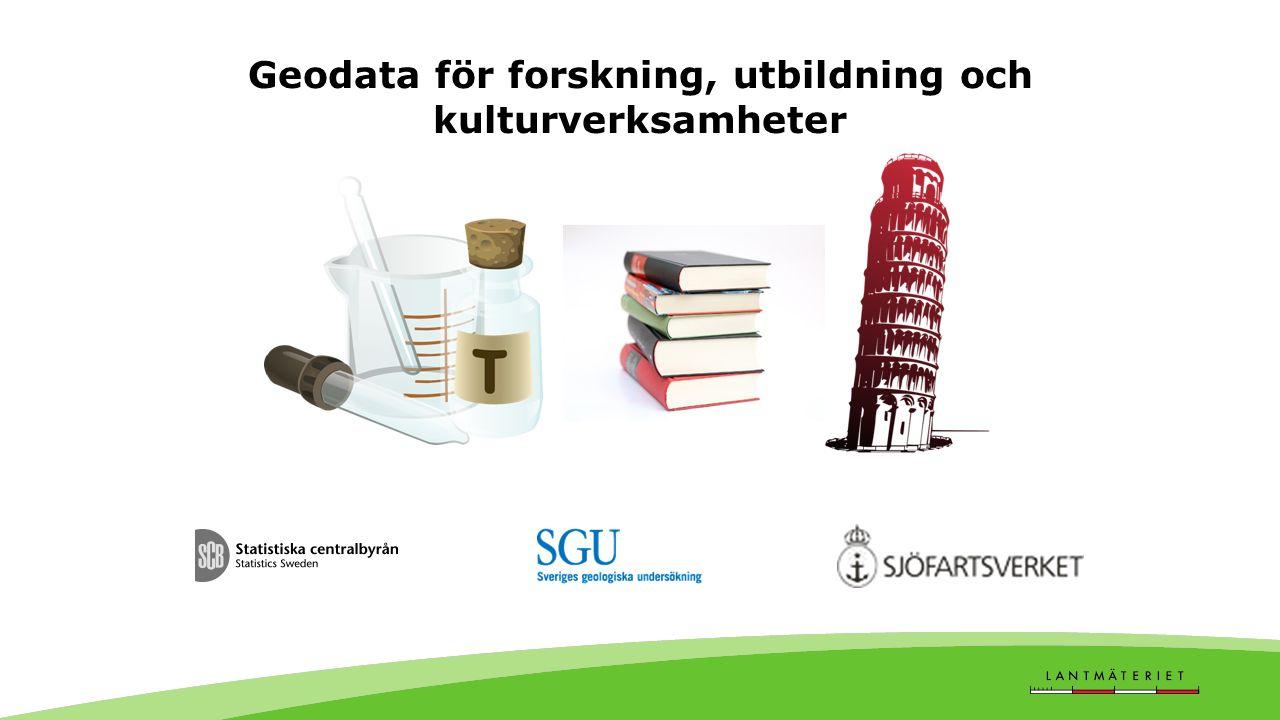 Geodata för forskning, utbildning och kulturverksamheter