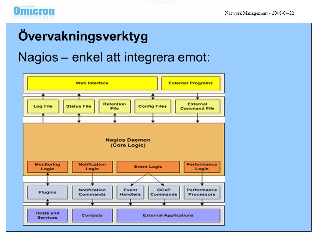 Övervakningsverktyg Nagios – enkel att integrera emot: Network Management - 2008-04-22