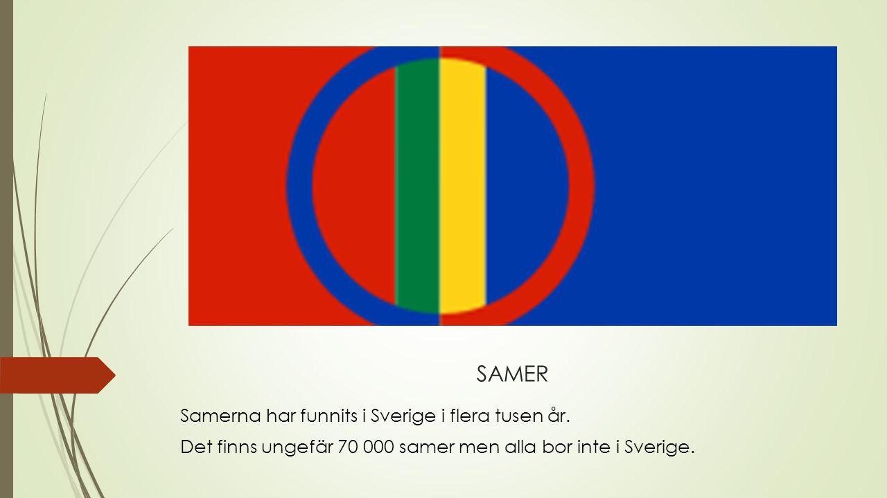 SAMER Samerna har funnits i Sverige i flera tusen år.