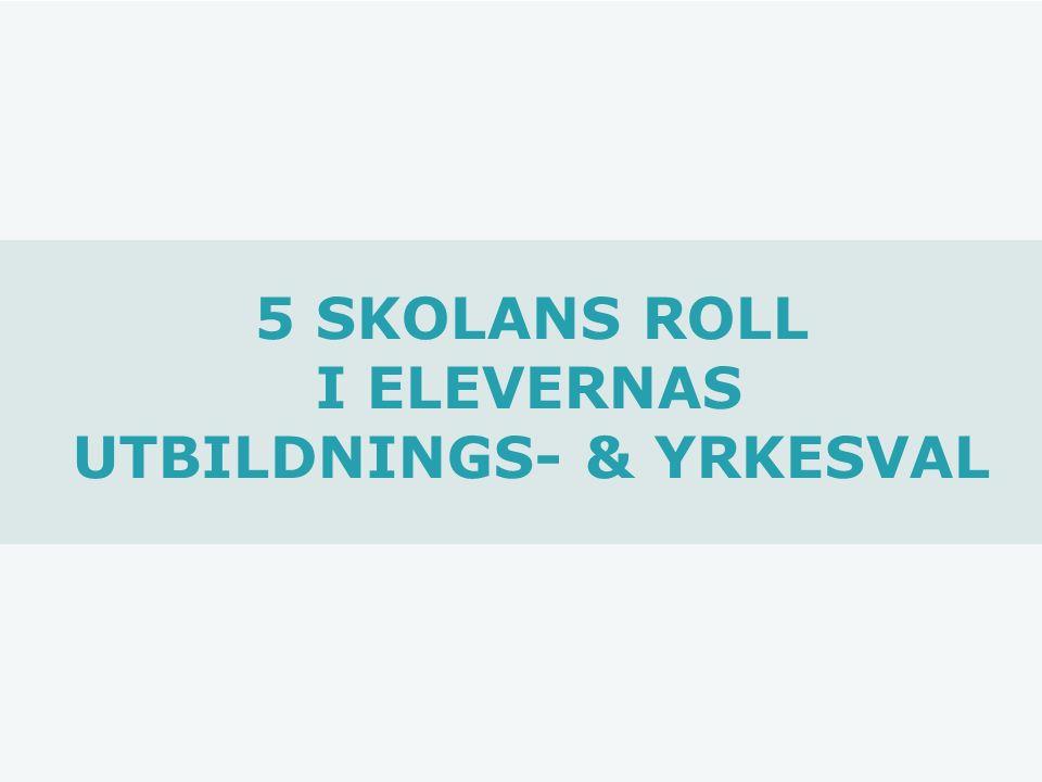 5 SKOLANS ROLL I ELEVERNAS UTBILDNINGS- & YRKESVAL
