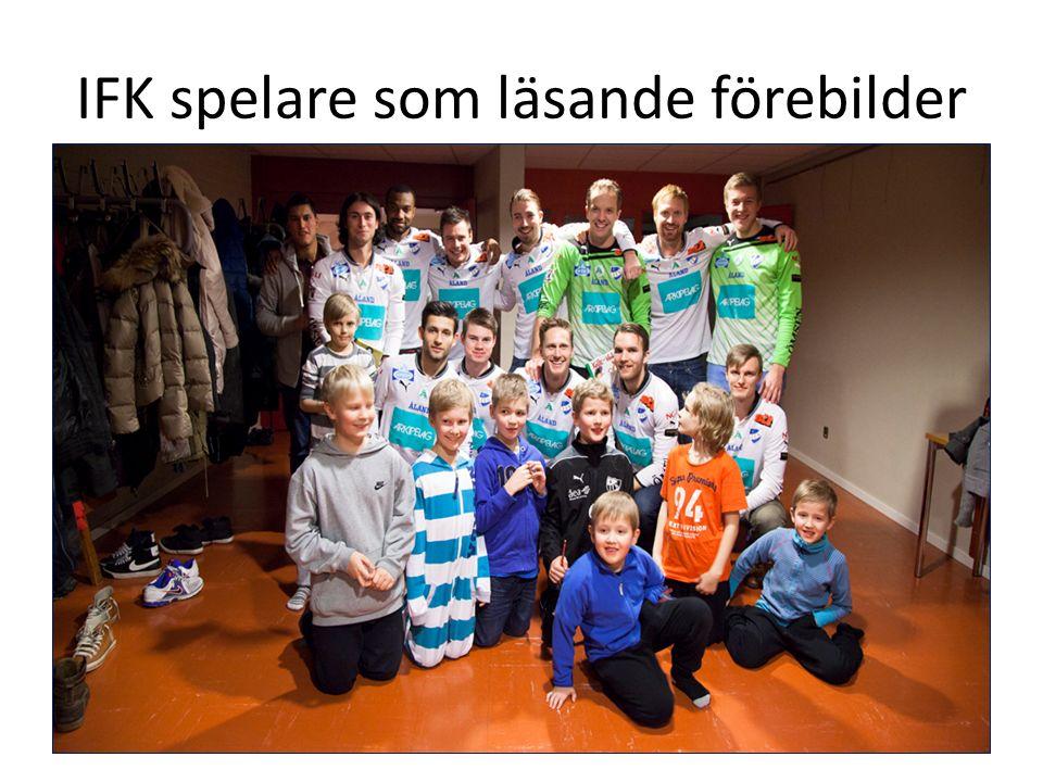 IFK spelare som läsande förebilder