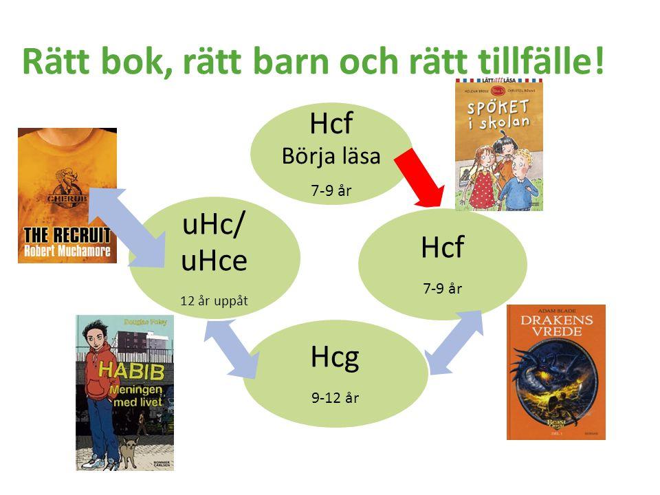 Rätt bok, rätt barn och rätt tillfälle! Hcf Börja läsa 7-9 år Hcf 7-9 år Hcg 9-12 år uHc/ uHce 12 år uppåt