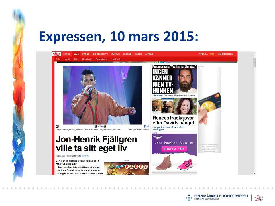 Expressen, 10 mars 2015: