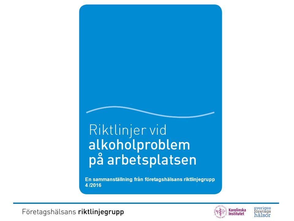 Alkoholproblemet Från Andreasson, S (2011) i Läkartidningen nr 45, volym 108