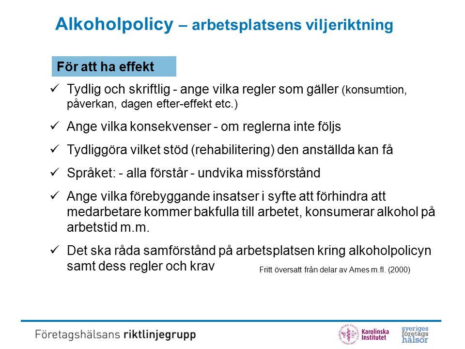 Markörer och formulär - komplementära Olika instrument för identifiering av möjliga alkoholproblem (formuläret AUDIT och alkohol- markören CDT och leverskademarkören GT) Från Hermansson, U (2004).