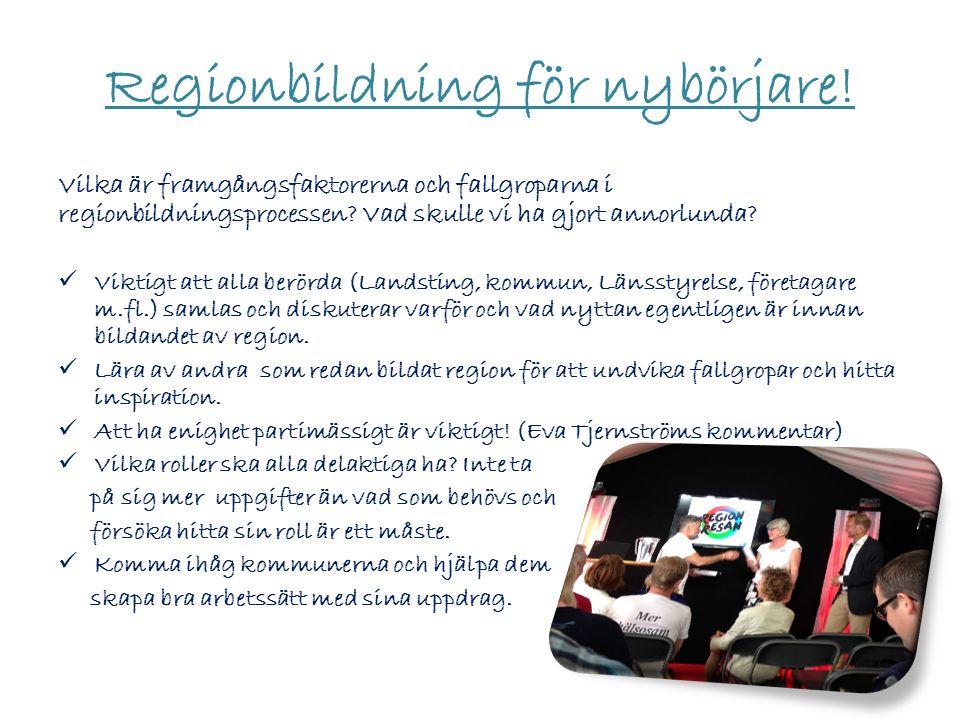 Regionbildning för nybörjare.
