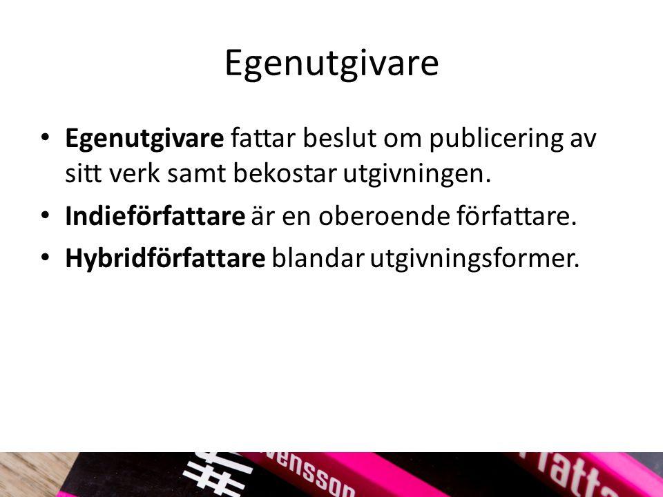 Bokutgivningsföretag Förlag säljer varan böcker.Bokutgivningsföretag säljer tjänsten bokutgivning.