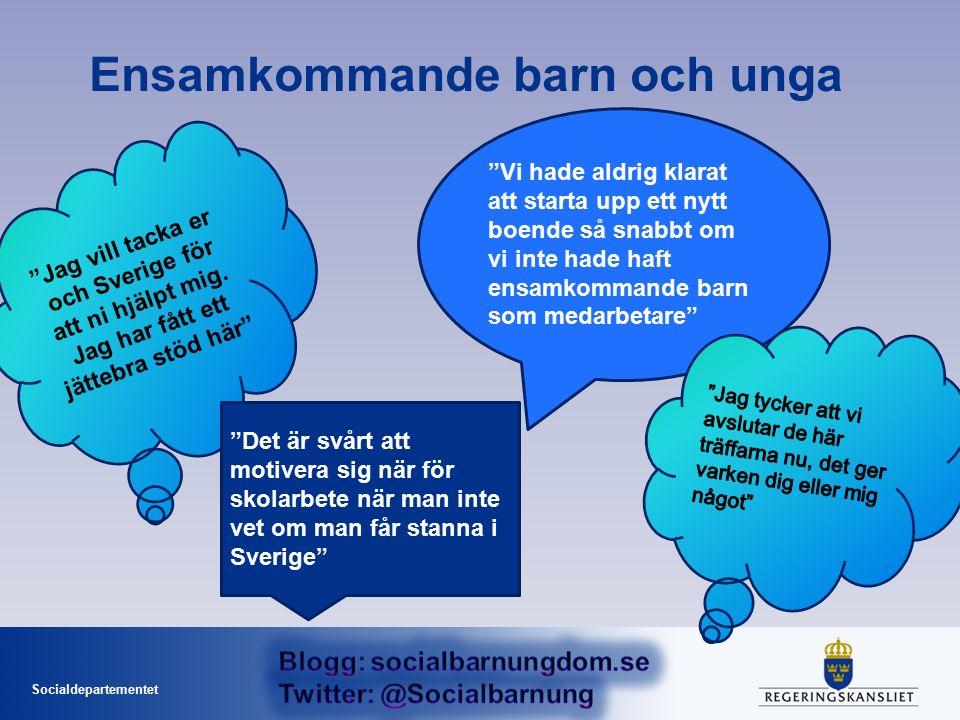 Socialdepartementet Jag vill tacka er och Sverige för att ni hjälpt mig.