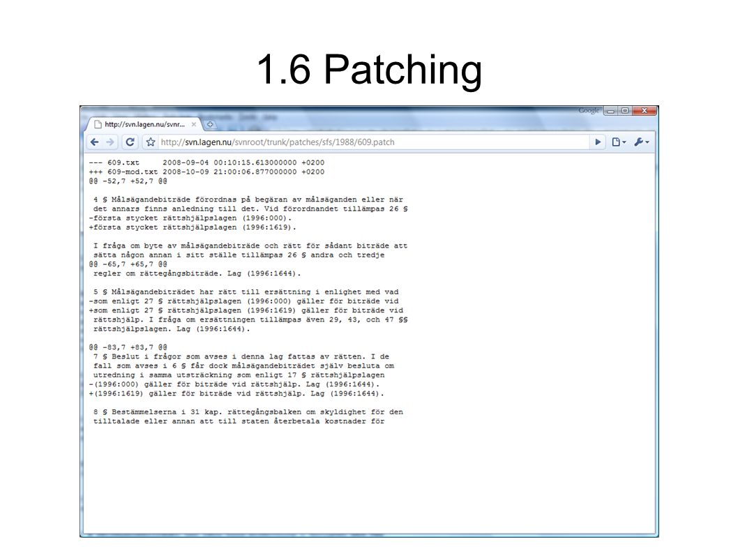 1.6 Patching