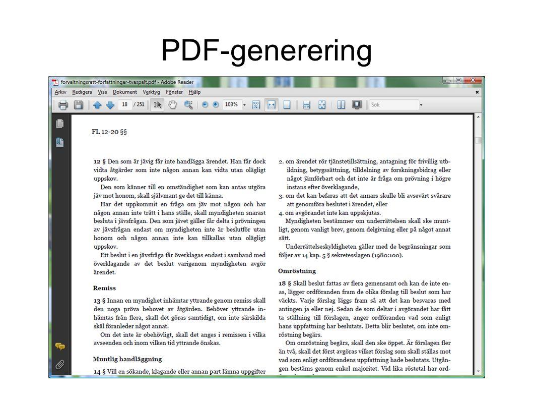 PDF-generering