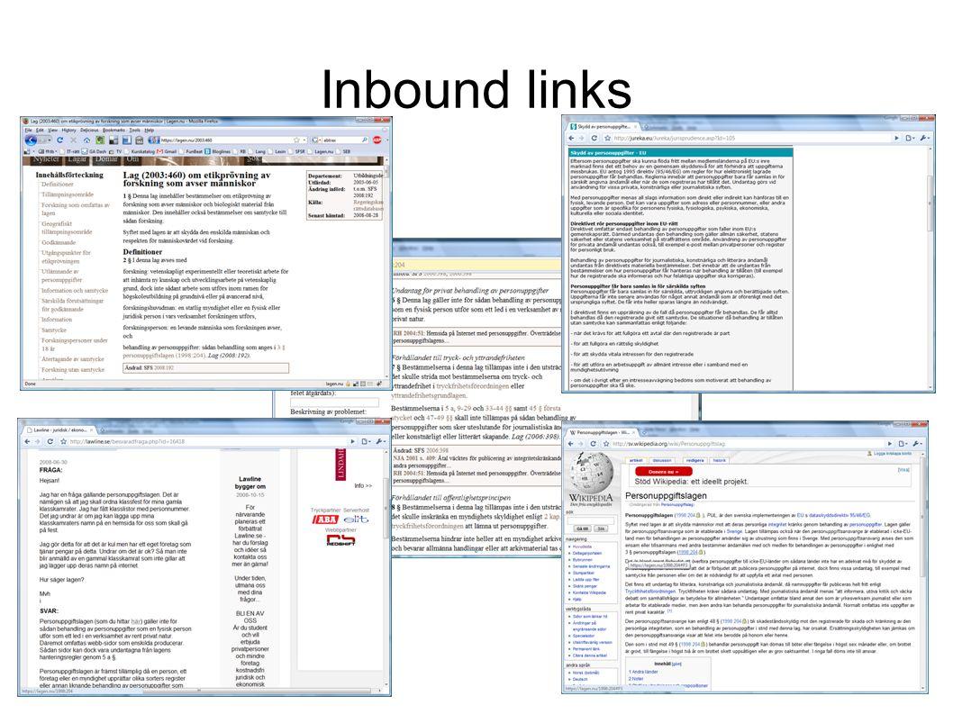 Inbound links