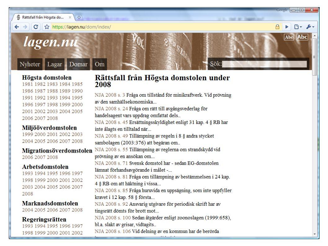 4.4 Följ utvecklingen Epostlista: http://groups.google.com/group/lagennu-utveckling Betaversion: http://ferenda.lagen.nu/ Utvecklingsweb: http://trac.lagen.nu