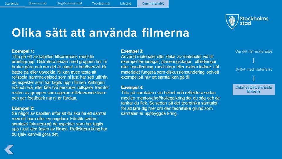 The Capital of Scandinavia Olika sätt att använda filmerna Exempel 1: Titta på ett av kapitlen tillsammans med din arbetsgrupp. Diskutera sedan med gr