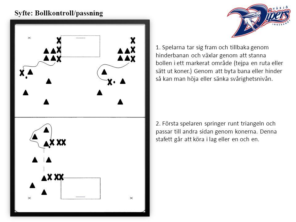 Syfte: Bollkontroll/passning 1.