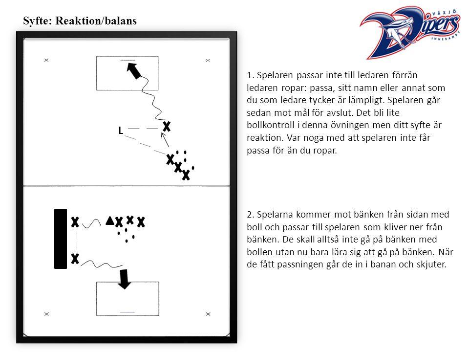 Syfte: Reaktion/balans 1.