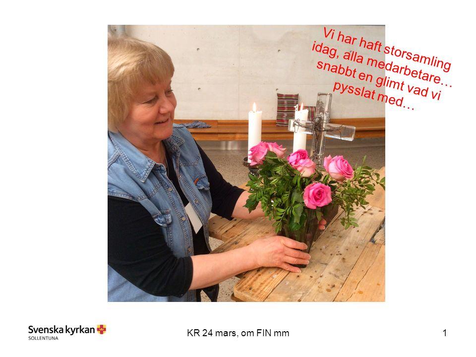 2KR 24 mars, om FIN mm Nya medarbetare Att mötas i samtal , Gäst: Ylva Olsson Hjälmdahl, Psykologföretaget Lutherjubileet, Karin Runow berättar om sitt uppdrag inför Lutherska världsamfundets möte 2017 Telefontips från coachen (ta gärna med dig telefonen) Officepaketet – utbildningsbehov Så gick det 2014 för församlingen Med mera Fotografering Välkommen till storsamlingen!