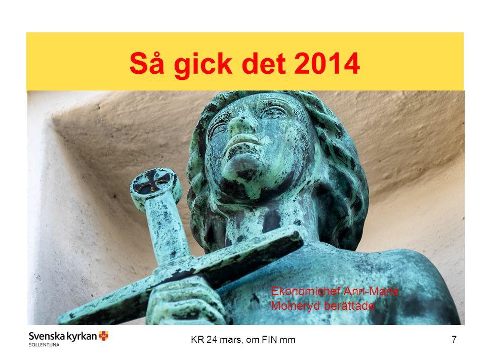 7KR 24 mars, om FIN mm Så gick det 2014 Ekonomichef Ann-Marie Molneryd berättade