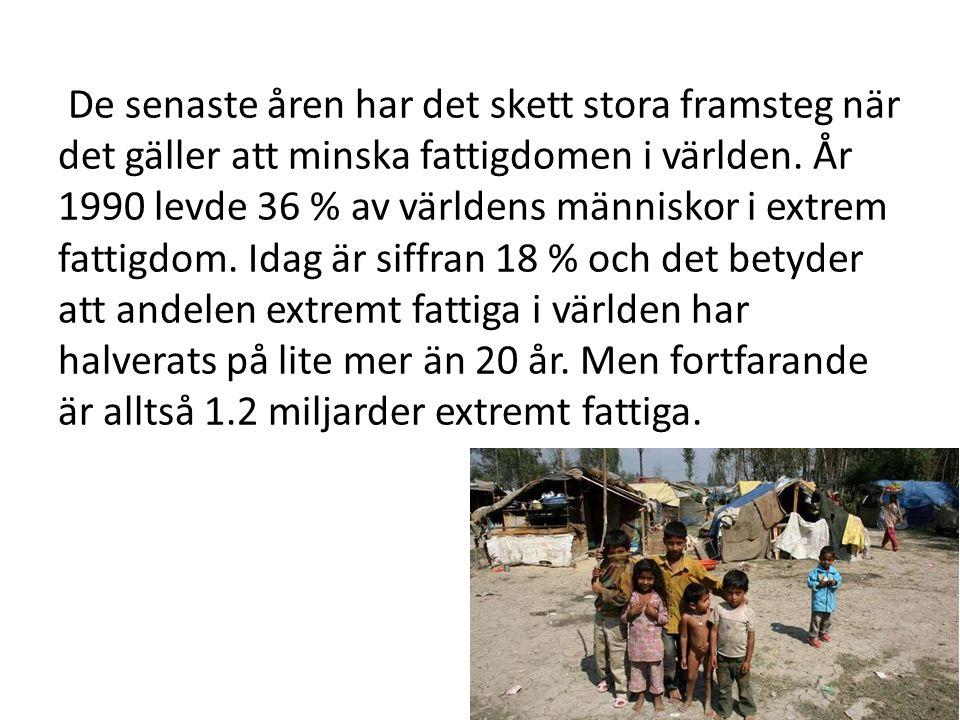 Relativ fattigdom Relativ fattigdom innebär fattigdom sett i förhållande till större delar av befolkningen, som oftast fastställs genom en nationell fattigdomsgräns, med utgångspunkt i befolkningsgenomsnittet.
